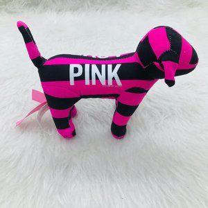 Victoria's Secret PINK pink and black striped dog